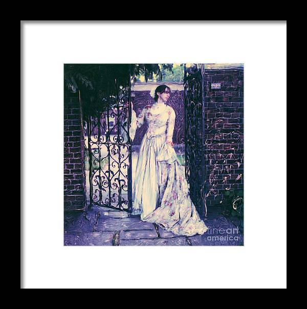 Polaroid Framed Print featuring the photograph In The Doorway... by Steven Godfrey