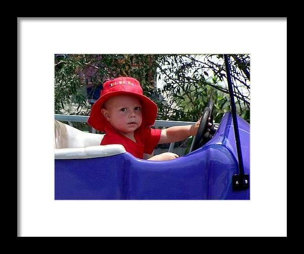 Nature Framed Print featuring the photograph In The Driver's Seat by Cumberland Studios