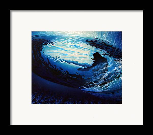 Surf Framed Print featuring the painting In The Eye by Ronnie Jackson