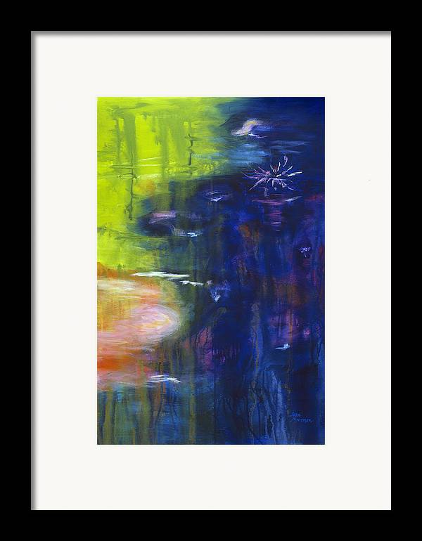 Abstract Framed Print featuring the painting In The Flow by Tara Moorman