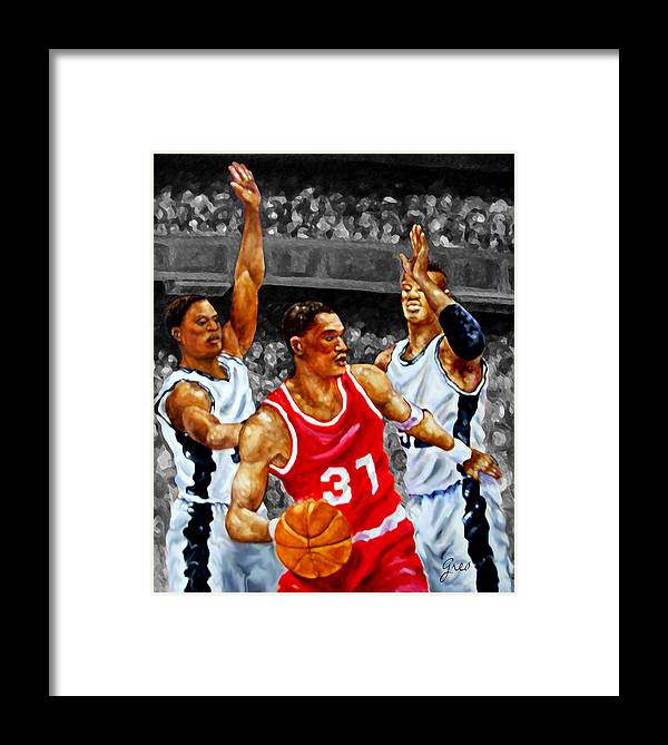 Basketball Players Framed Print featuring the photograph In The Game by Genia M Owens