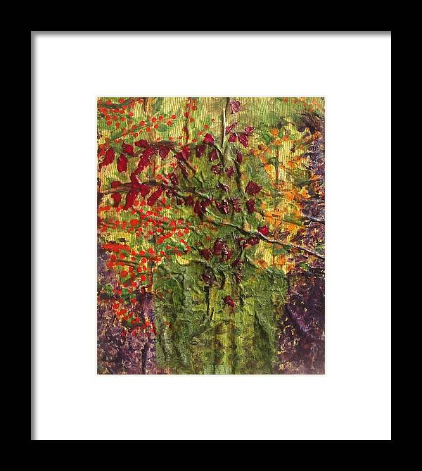 Framed Print featuring the mixed media In The Garden by Lisa Graham