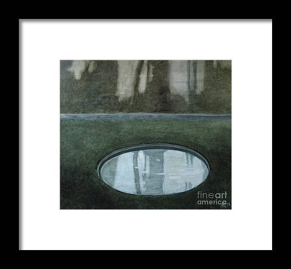 Paris Framed Print featuring the painting In The Garden by Raimonda Jatkeviciute-Kasparaviciene