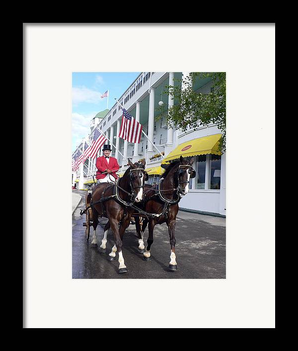 Horses Framed Print featuring the photograph In The Grand Mackinac Manner by Charles Ridgway