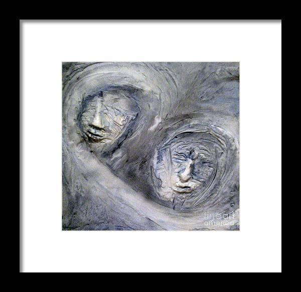 Portraits Framed Print featuring the painting In The Ice Storm by Kime Einhorn