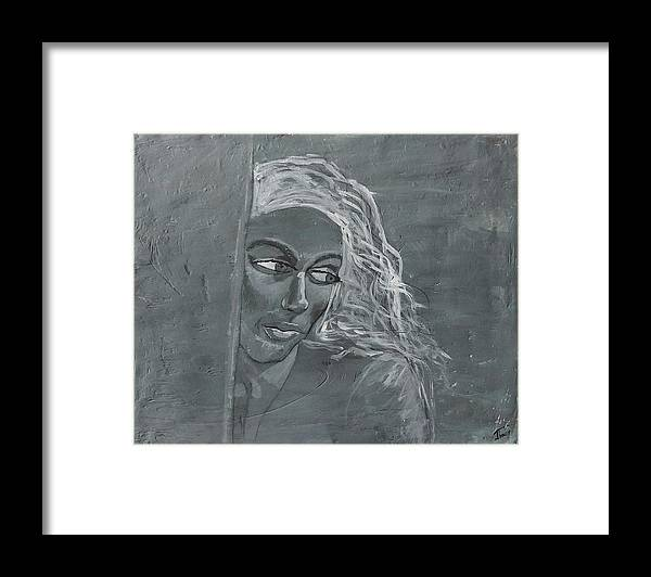 Women Framed Print featuring the painting In The Moon Light by J Bauer
