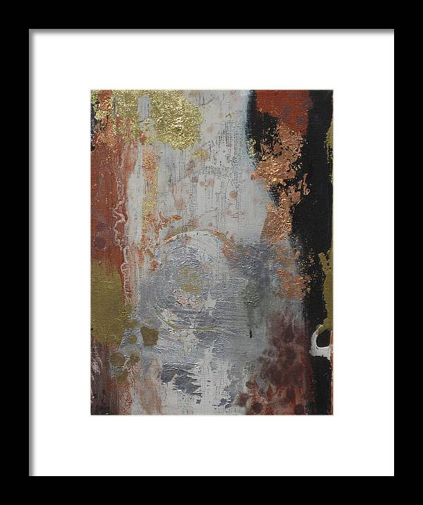 Gold Leaf Framed Print featuring the painting In The Night by Kyle Ethan Fischer