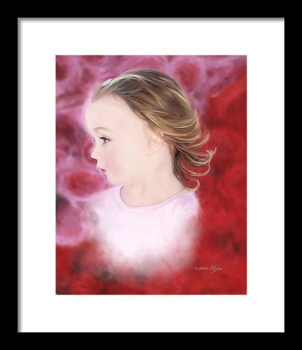 Little Girl Framed Print featuring the painting In The Pink by Elzire S