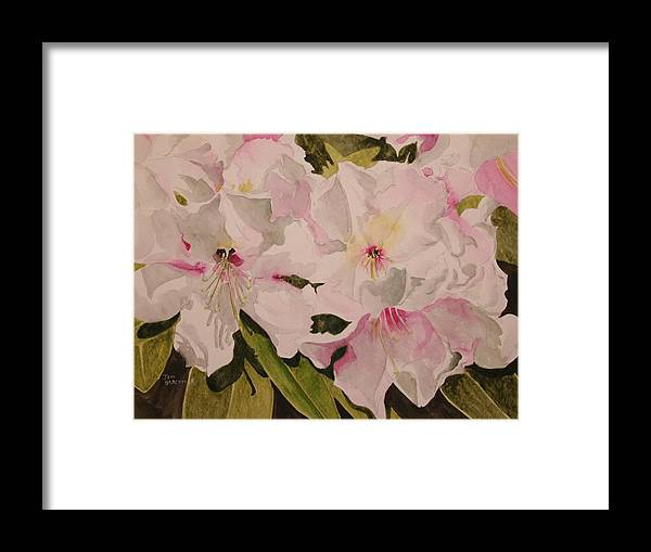 Pink Framed Print featuring the painting In The Pink by Jean Blackmer