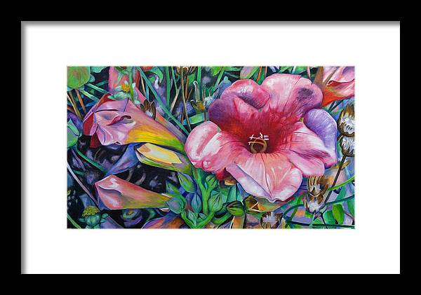 Flowers Framed Print featuring the painting Fragrant Blooms by Jeremy Holton