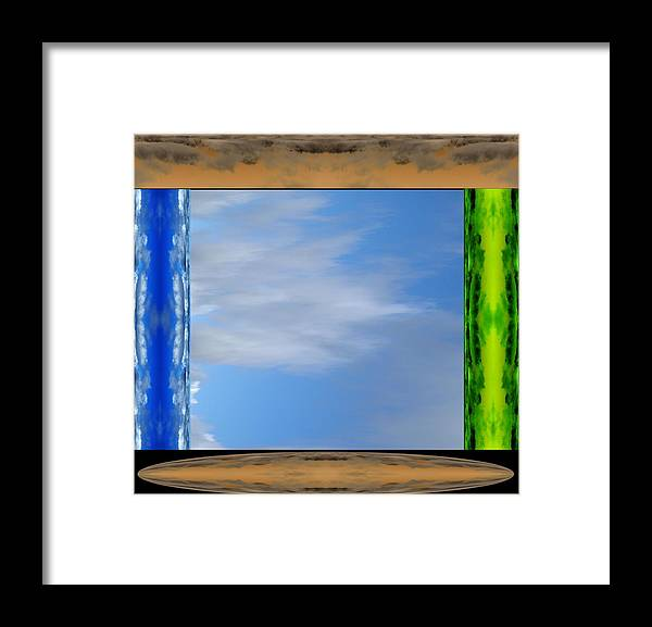 In The Presence Of The Divinity Framed Print featuring the digital art In The Presence Of The Divinity by Geoff Simmonds