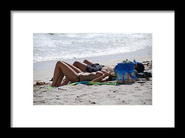 Nude Framed Print featuring the photograph In The Sand At Paradise Beach by Rob Hans