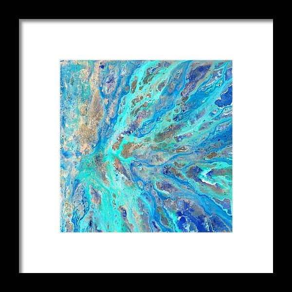In The Sea Framed Print featuring the mixed media In The Sea by rinARTT