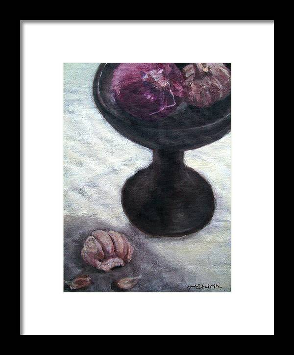 Food Framed Print featuring the painting In The Shadow Of Greatness by Tahirih Goffic