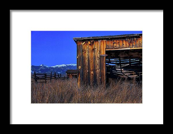 Monte Vista Framed Print featuring the photograph In The Shadow Of The Mountains by Mike Flynn