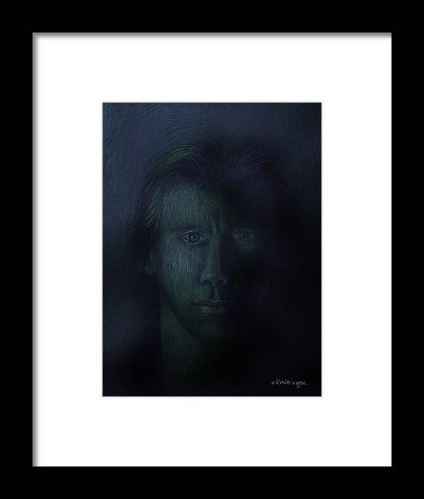 Dark Framed Print featuring the pastel In The Shadows Of Despair by Arline Wagner