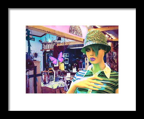 Hat Framed Print featuring the digital art In The Shop by Sarah Crumpler