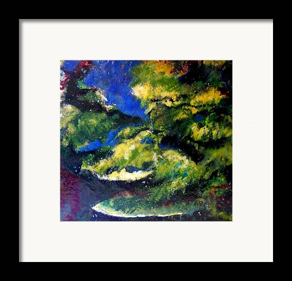 Landscape Framed Print featuring the painting In The Spaces by Karla Phlypo-Price