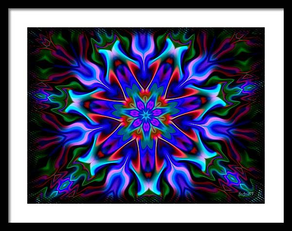 Blue Framed Print featuring the digital art In The Spirit Of Things by Robert Orinski