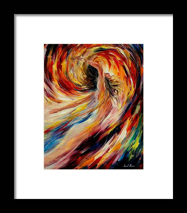 Nude Framed Print featuring the painting In The Vortex Of Passion by Leonid Afremov