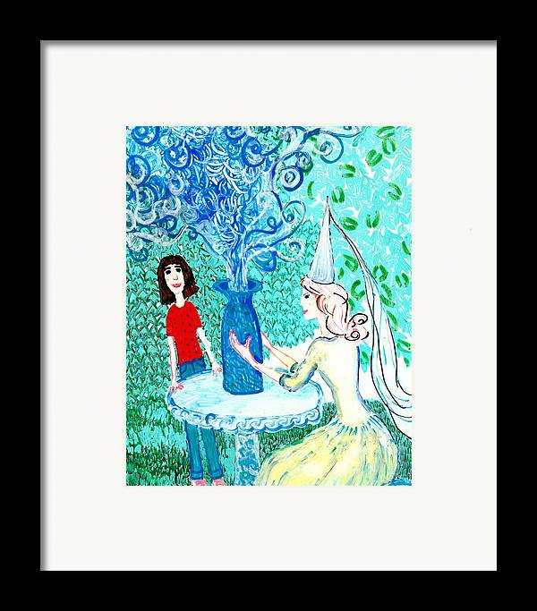 Sue Burgess Framed Print featuring the painting In The White Lady's Cave by Sushila Burgess