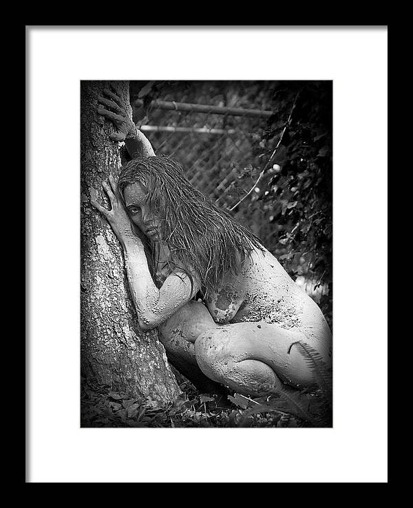Female Framed Print featuring the photograph In The Wild by Pedro Ebarb