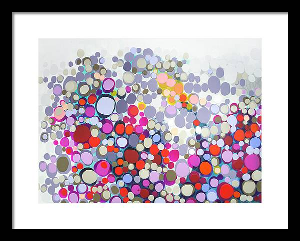 Abstract Framed Print featuring the painting In The Winter by Claire Desjardins