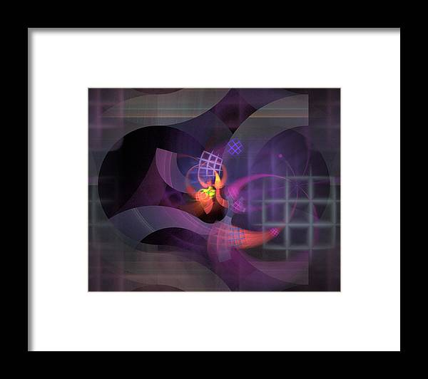 Graceful Framed Print featuring the digital art In The Year Of The Tiger - Fractal Art by Nirvana Blues