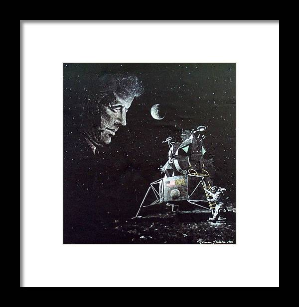 Space Framed Print featuring the painting In This Decade by Norman F Jackson