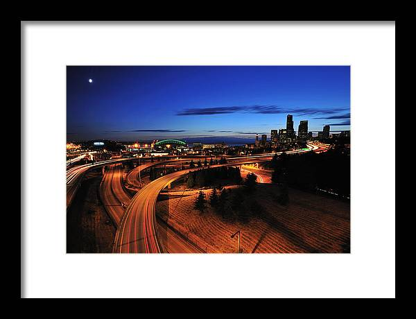 Seattle Framed Print featuring the photograph In To Emerald City C083 by Yoshiki Nakamura