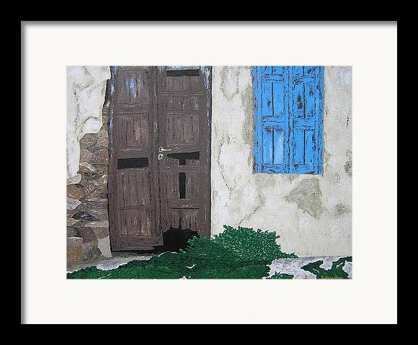 Architecture Framed Print featuring the painting In Waiting by Ricklene Wren
