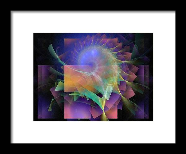 Abstract Framed Print featuring the digital art In What Far Place by NirvanaBlues
