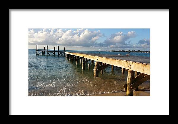Sea Framed Print featuring the photograph In With The Tide by Kayla Powell