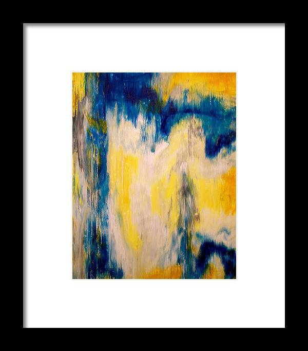 Abstract Framed Print featuring the painting In Your Presence by Wayne Cantrell