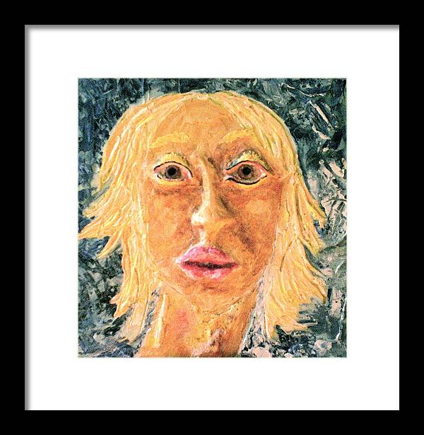 Portraits Framed Print featuring the painting Inanna by Kime Einhorn