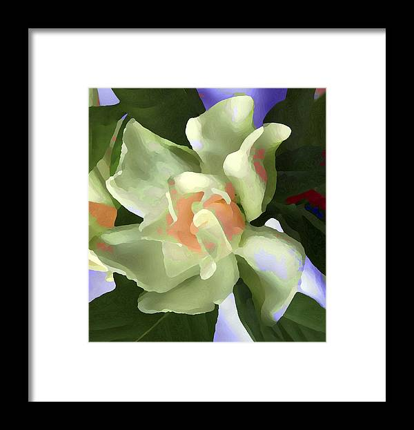 Abstract Framed Print featuring the photograph Incendle Melange by Robert OP Parrish