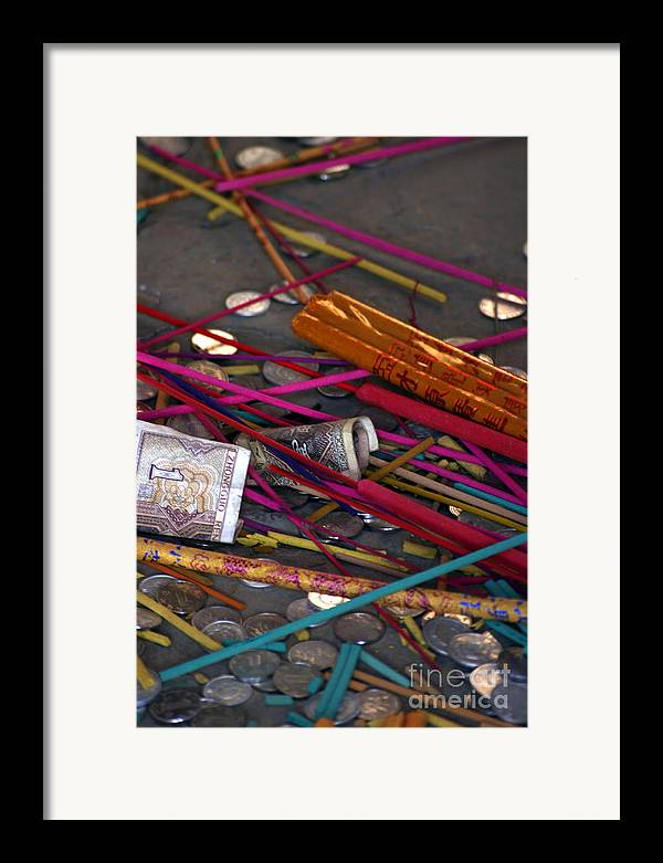 Incense Framed Print featuring the photograph Incense And Alms by April Holgate