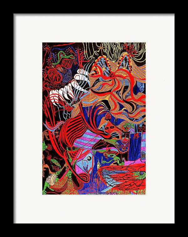 Abstract Framed Print featuring the print Incense by William Watson