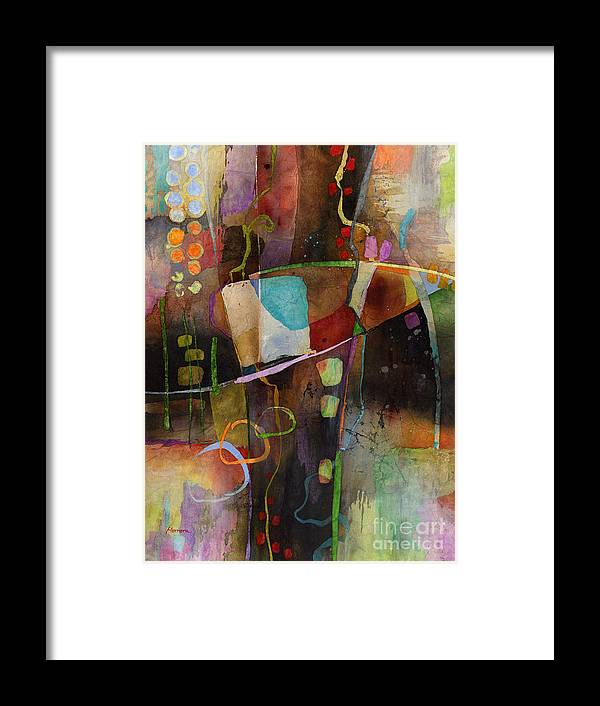 Abstract Framed Print featuring the painting Incipient Bloom by Hailey E Herrera