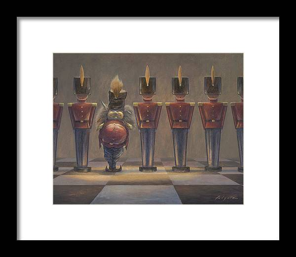 Leonard Filgate Framed Print featuring the painting Incognito by Leonard Filgate