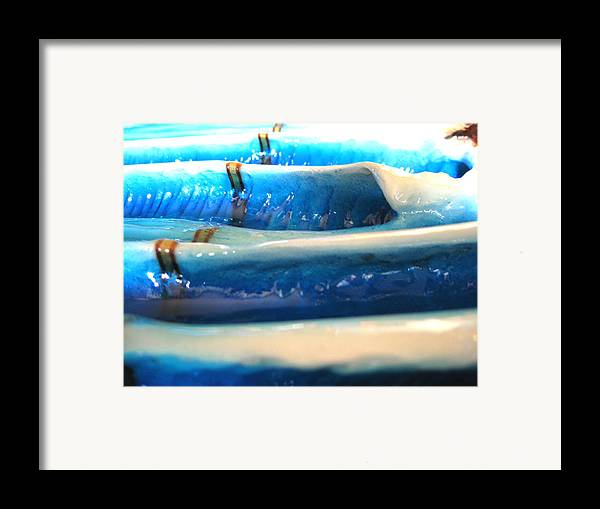 Surf Framed Print featuring the sculpture Incoming by Ronnie Jackson
