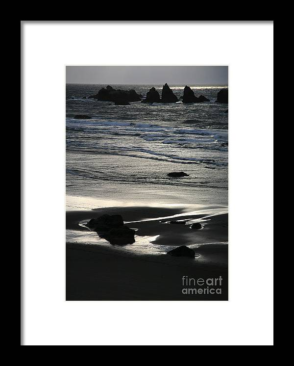 Bandon Framed Print featuring the photograph Incoming Tide by Timothy Johnson