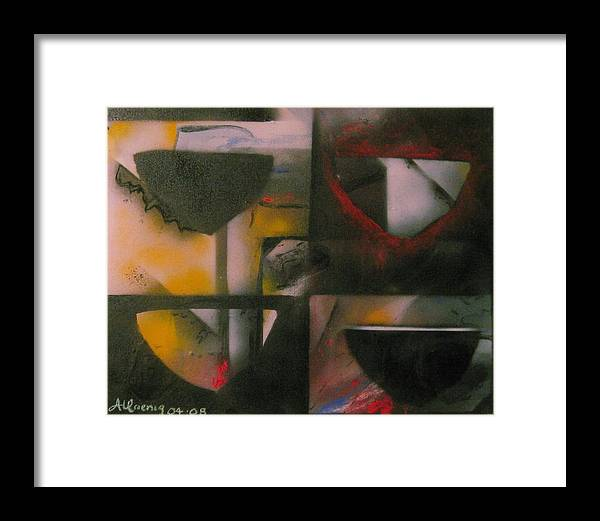 Framed Print featuring the painting Incomplete Drops Of Salvation by Andrea Noel Kroenig