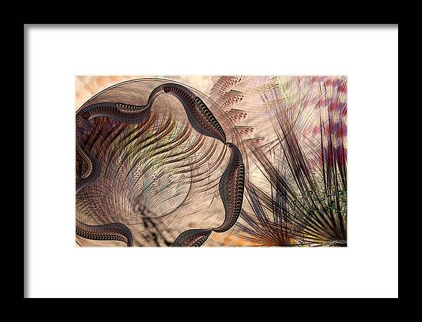 Abstract Framed Print featuring the digital art Incomprehension by Casey Kotas