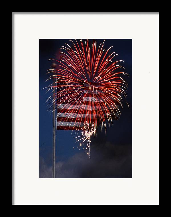 Flag Framed Print featuring the photograph Independence Day by Skip Willits
