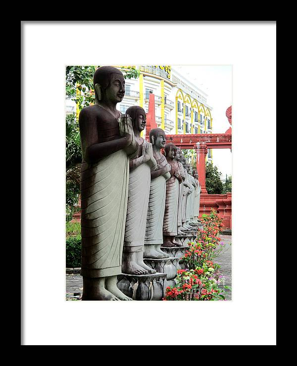 Cambodia Framed Print featuring the photograph Independence Park 16 by Randall Weidner