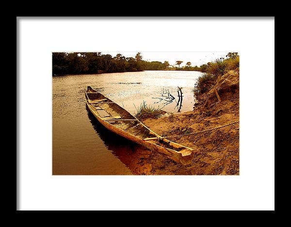 Indian Framed Print featuring the photograph Indian Boat by Galeria Trompiz