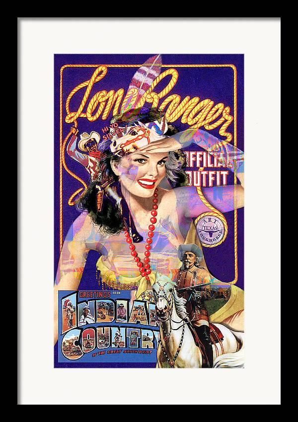 Lone Ranger Framed Print featuring the painting Indian Country by Robert Anderson