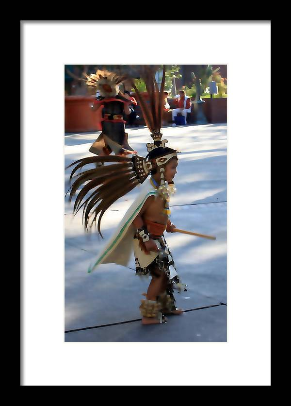 Indian Framed Print featuring the photograph Indian Dancer 0642b by Edward Ruth