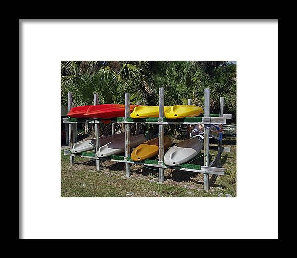 Kayak Framed Print featuring the photograph Indian River In Florida by Allan Hughes